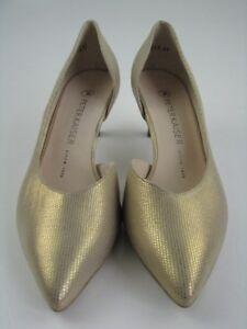 innovative design 9a526 5dc27 Details zu Peter Kaiser Cäte Damen Schuhe Pumps in gold schimmer Leder Gr.  37,5