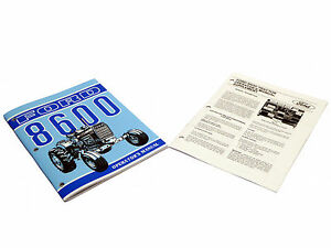 Ford 8600 Tractor Owner Operators Instruction Manual