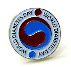 Pin Brooch Day World Of Diabetes - World Diabetes Day, CM 1,7