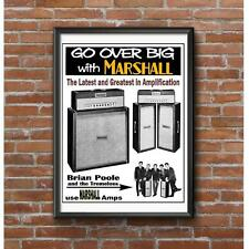 Vintage Guitar Amplifier Advertising Poster - Lead & Bass and P.A. Amps