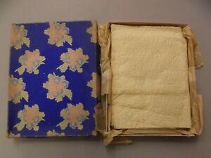 Unused Vtg 1940s 50s Pale Yellow Seersucker 4 Placemats