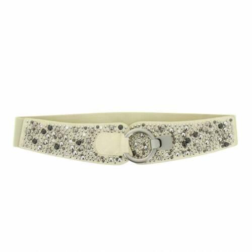 Élastique gaines xltaillengürtel large ceinture rivets crochet boucle strass