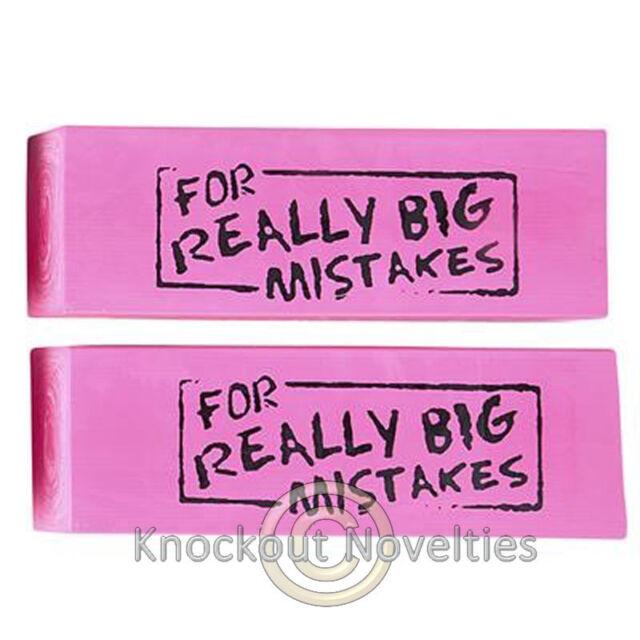•JUMBO ERASER• Big Mistake Wedge Erasing Desk School Office Desktop Novelty Gift