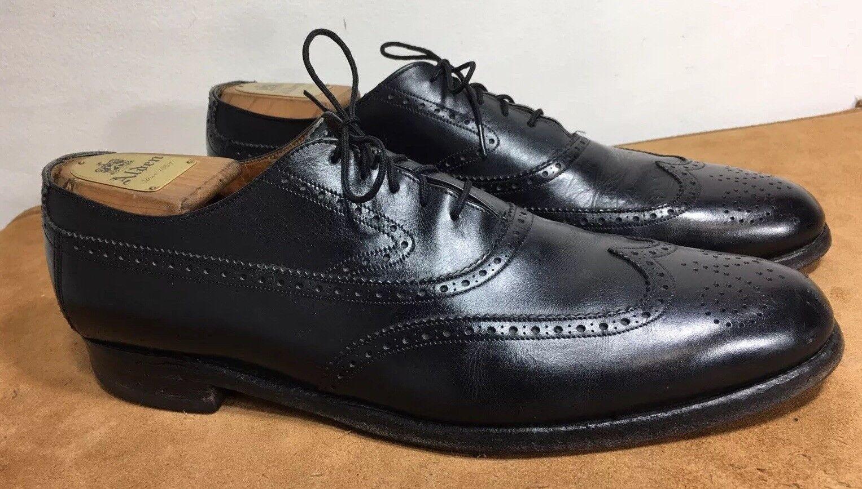 Zapatos De Cuero Brooks Brojohers punta del ala Oxford Hombre 11.5 Hecho En Inglaterra