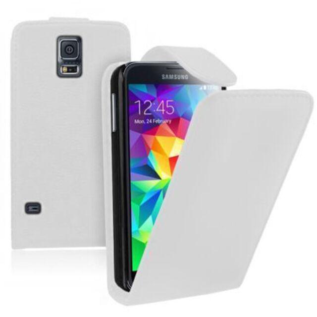 Piel Artificial Funda protectora de móvil con tapa para Samsung Galaxy S5 Mini