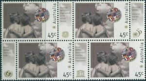 Australia-1995-SG1529-45c-United-Nations-block-with-tabs-MNH