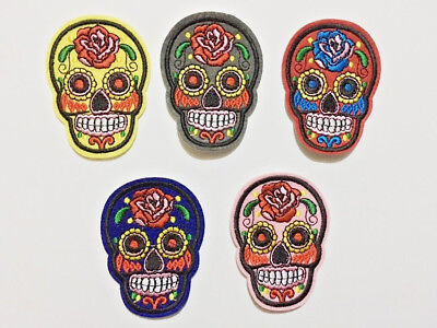 Day Of The Dead Candy Mexican Iron On Skull Patch Patches Badge Embroidered 63