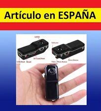 Mini camara DEPORTES MD80 DVR video y sonido fotos webcam grabadora espía oculta