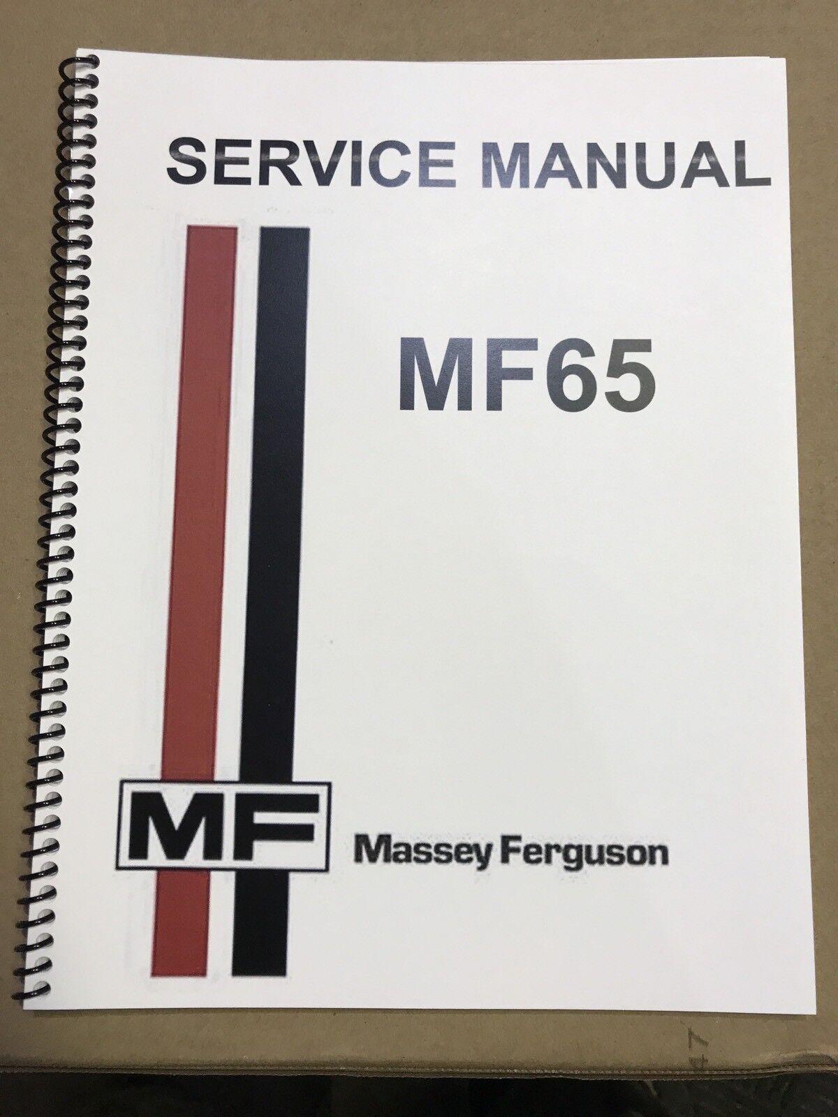Massey Ferguson MF 65 Tractor Service Manual Technical Repair Shop Workshop    eBay