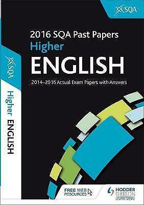 """""""AS NEW"""" SQA, Higher English 2016-17 SQA Past Papers with Answers Book"""