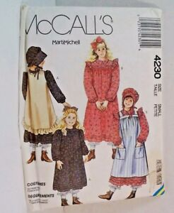 Prairie-Holly-Hobbie-Halloween-Costume-McCall-039-s-Childs-Small-Sewing-Pattern-New