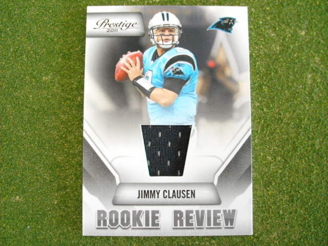 2011 Prestige Jimmy Clausen rookie review jersey card Notre Dame ...