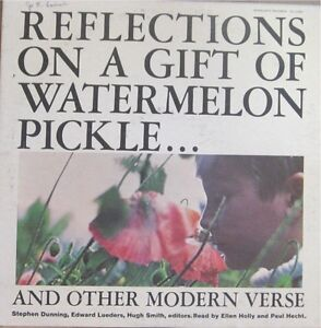Reflections On A Gift Of Watermelon Pickle Poetry Lp Ebay