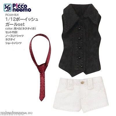 Azone 1/12 Picconeemo Picco neemo Doll Boyish Fashion Outfit Tie Pants Shirt BLW