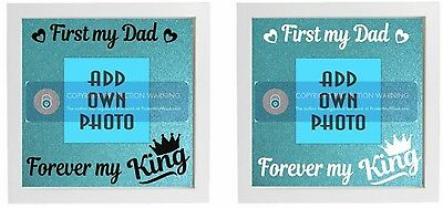 Vinyl Sticker FITS IKEA RIBBA FRAME First my Dad forever my King - ADD OWN PHOTO