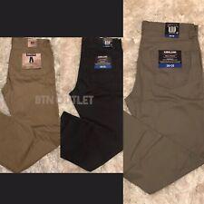 KIRKLAND SIGNATURE NEW Men/'s 5 Pocket Brushed Cotton Straight Fit Pants TEDO