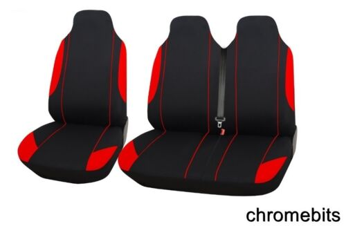 Tela Suave Fundas de Asiento Renault Trafic 2+1 Rojo Individual Doble Confort