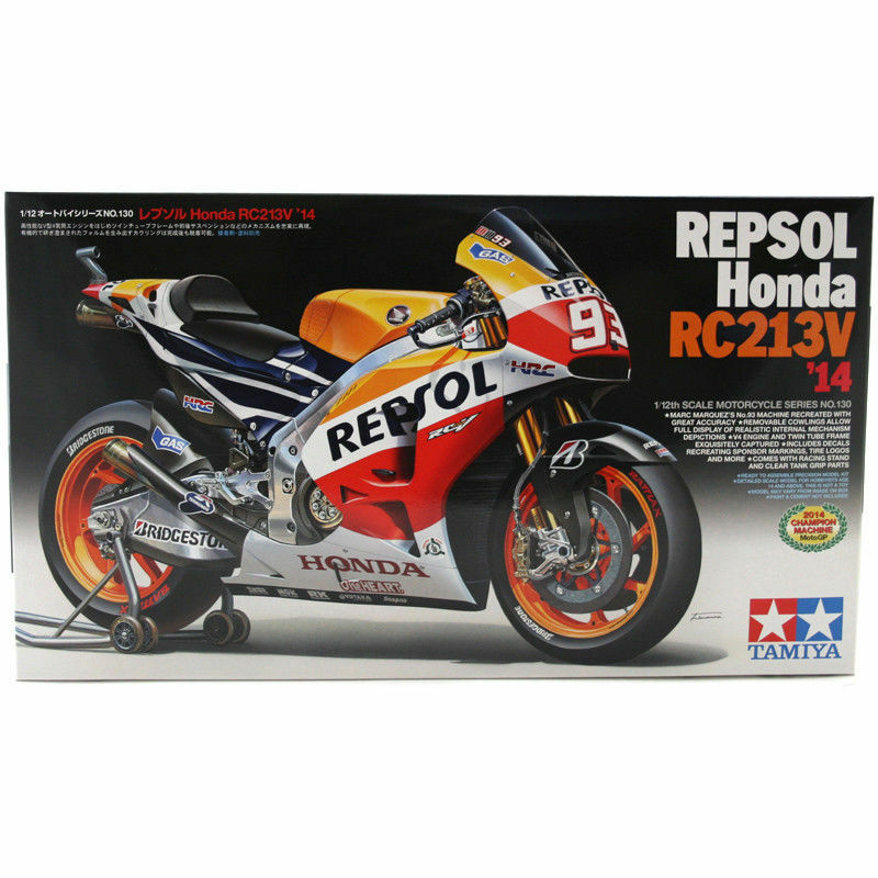 Repsol Honda Rc213V 14 Marquez - 1 12 Bike Model Kit - Tamiya 14130