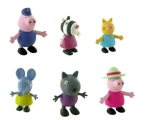 Comansi Peppa Pig Friends Grand-Père Grand-Mère Zoe Molly Chat Emily Jeu Figure