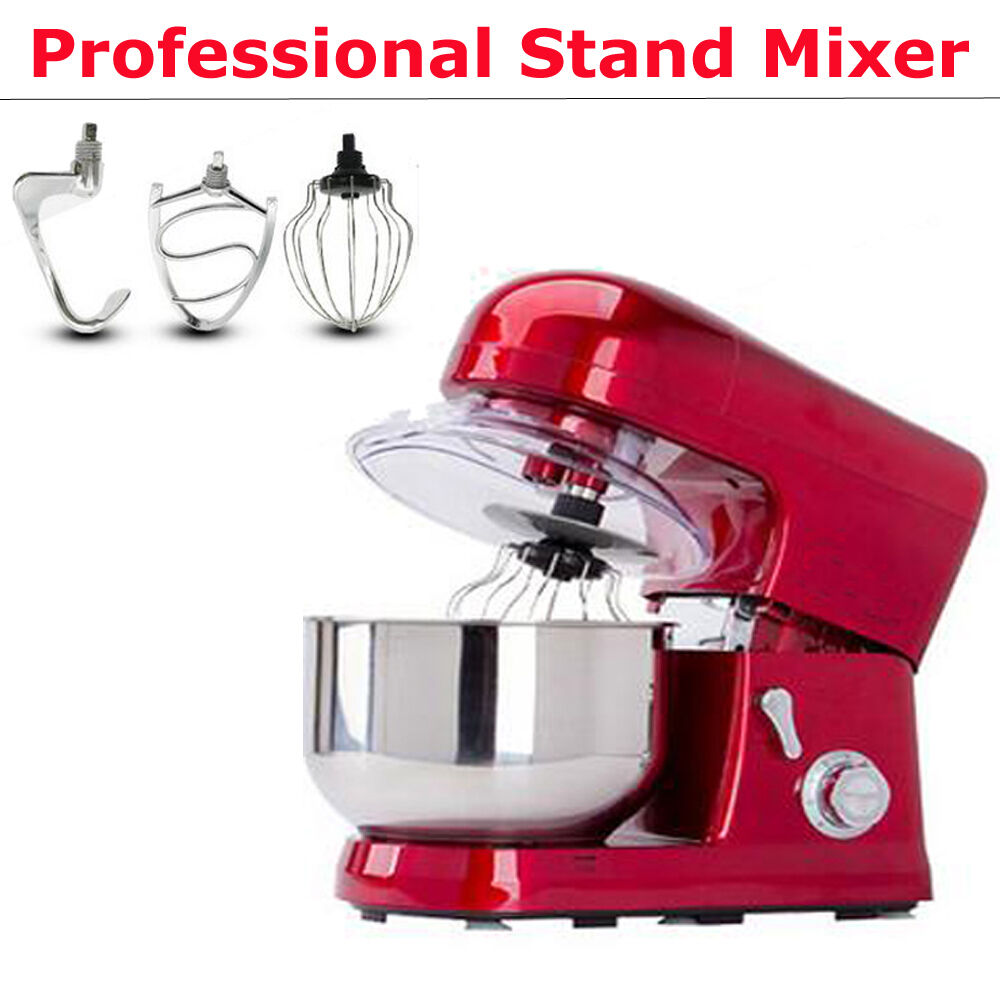 Kitchen 6-Speed Counter Stand Mixer Bowl Baking Cakes Batter Cookies Bread Dough