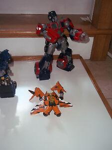 Lot of 3 Transformers Hasbro OPTIMUS PRIME  &  Fury of Fearswoop
