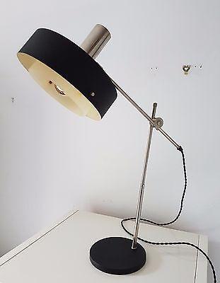 1950s Retro Vintage Stilnovo Knoll Black Desk Lamp EAMES ARTELUCE ARREDOLUCE