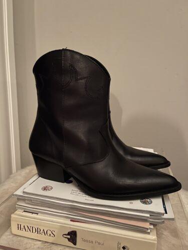 Depp women western cowboy ankle boots 37
