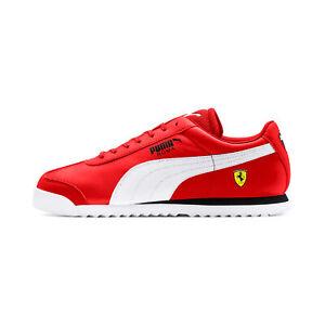 Puma-Men-039-s-Scuderia-Ferrari-Roma-Rosso-Corsa-White-Black-Sneakers-30608312-NEW