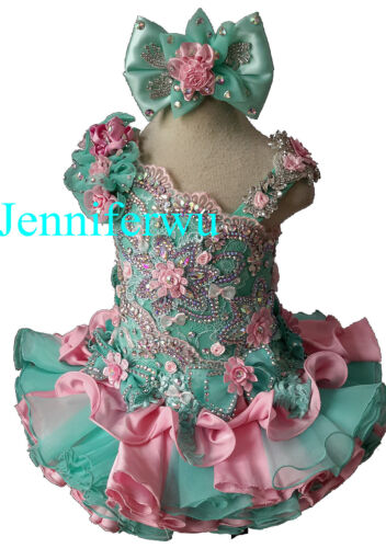 fabulous Infant//toddler//kids//baby//Girl/'s  Pageant//prom//formal Dress