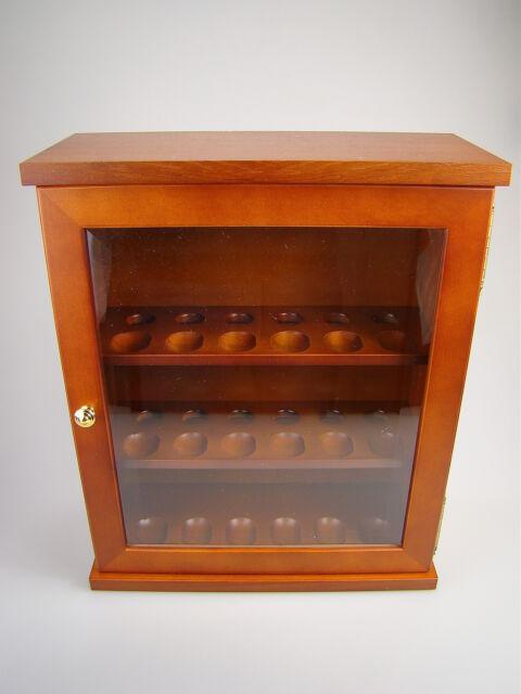 Pfeifenschrank Teakholz für bis zu 18 Pfeifen 40x33.5x12.5 cm