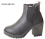 Womans-Chelsea-Ankle-Black-Zip-Grip-Soles-Chunky-Festival-Boots-Flat-High-Heel thumbnail 5