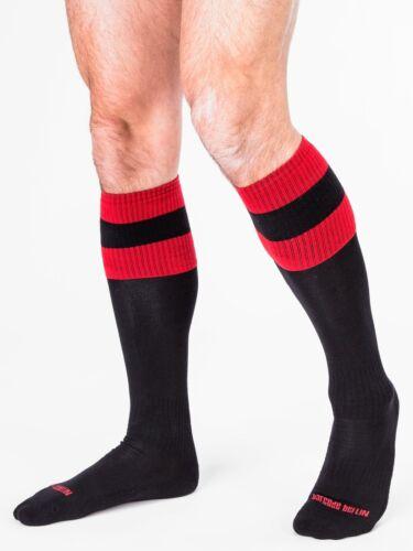 Yellow//Black // Black//Red /& White Red Barcode Berlin Football Socks