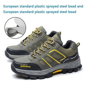 Men's Safety Shoes Construction Breathable Working  Steel Toe Sole Work Boots