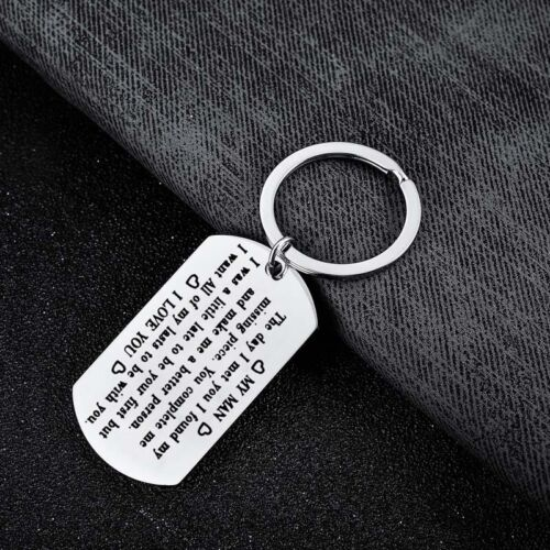 Stainless Steel Keyring Christmas Dad Birthday Gifts Fathers Day Keychain Daddy