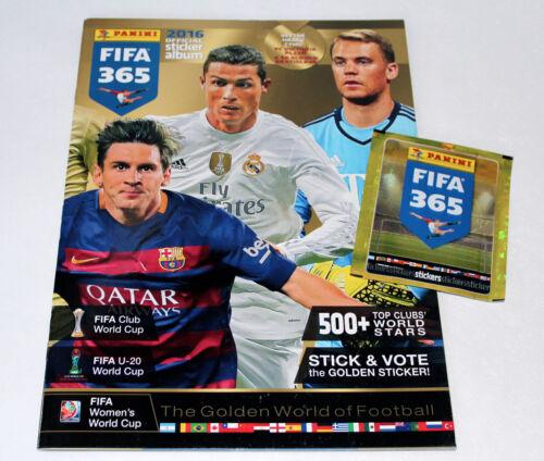PANINI FIFA 365 saison 2016 Edition CZ//SVK-LEERALBUM EMPTY ALBUM vuoto compresseur
