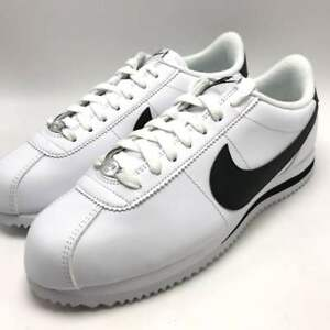 quality design a4d66 473be Details about Nike Cortez Basic Leather Men's Shoes White/Black-Metallic  Silver 819719-100