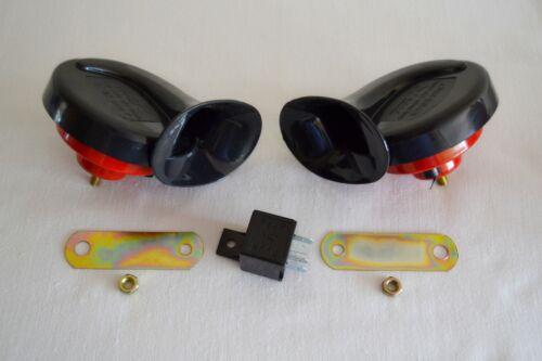 Double Escargot Sirène Klaxon Fort Haut Ton Inférieur Set 12V Kit Voiture