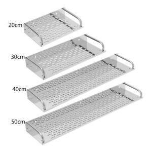 Kitchen Bathroom Stainless Steel Shelf Wall Mounted Storage Rack