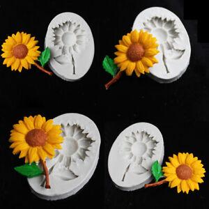 DIY Sunflower Silicone Fondant Mold Candy Cake Chocolate Decorating Baking Mould