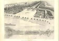 1901 Queen Victoria Memorial Birds Eye View Plan Tg Jackson