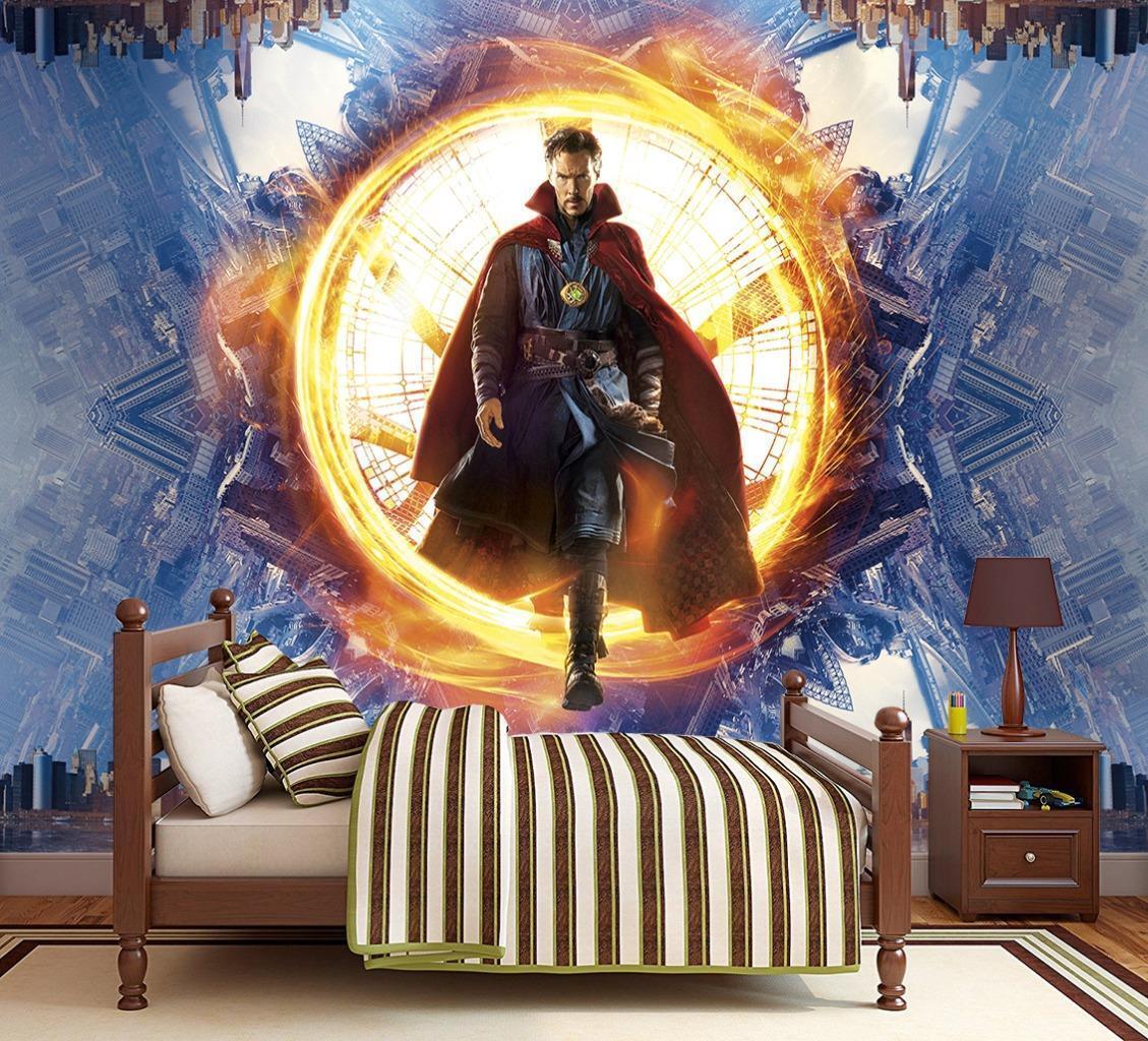 Doctor Strange Marvel Photo Wallpaper Woven Self-Adhesive Wall Mural Art M61