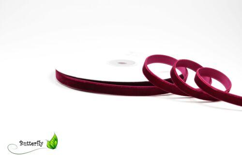 10m Samtband 10mm Schmuckband Schleifenband Zierband Samtborte 9mm 1cm Zierborte