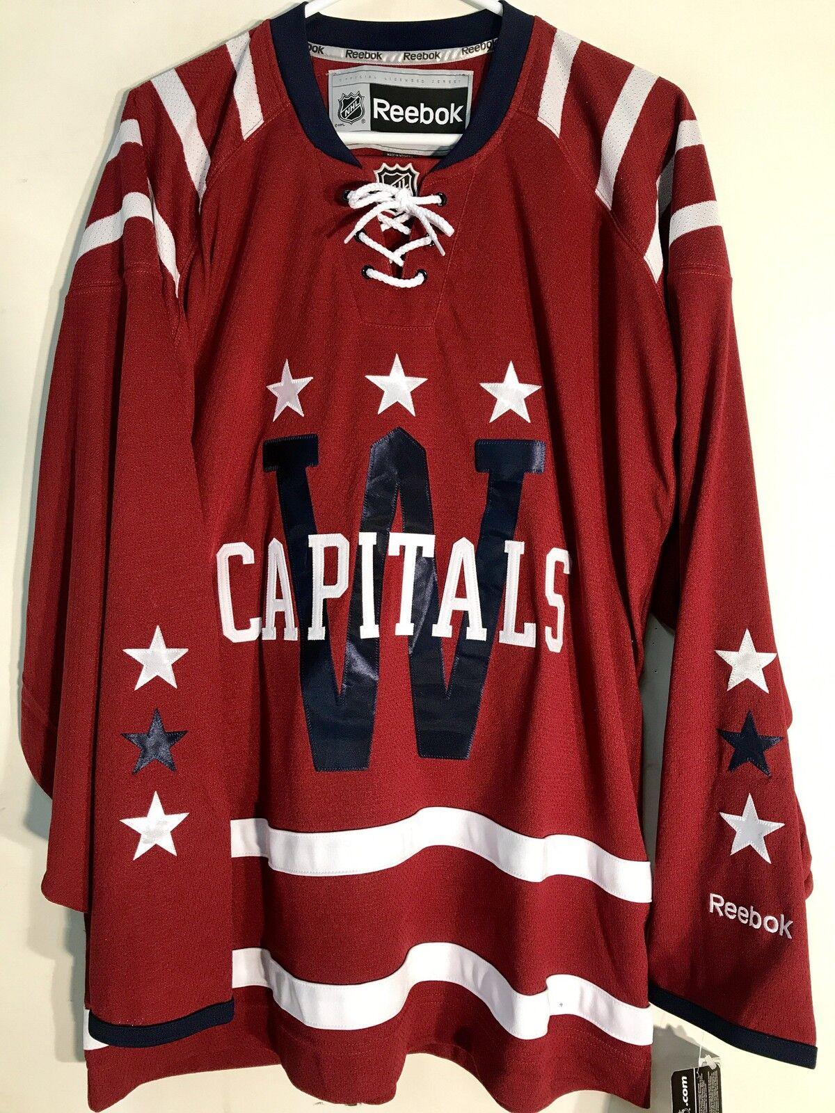 on sale 77dd3 731e6 Reebok Premier NHL Jersey Washington Capitals Team Burgundy Winter Classic  sz S