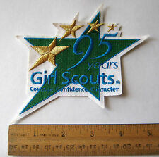 Girl Scout 1912-2007 95th ANNIVERSARY PATCH Courage Confidence Star Badge Emblem