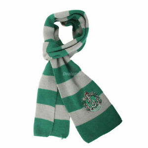 Harry-Potter-Slytherin-House-Cosplay-Knit-Wool-Costume-Scarf-Halloween-Costume