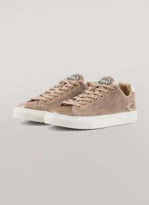 Dettagli su Sneakers Donna Colmar Bradbury Lux Scarpe Glitter Pelle Suede Nere Oro Nuove