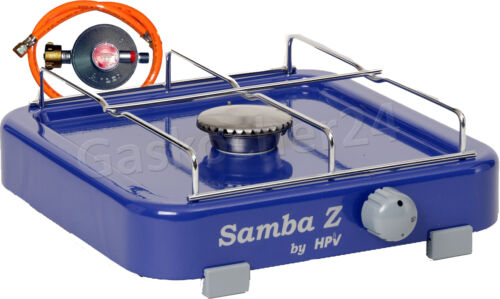 50 mbar Gas Cooker Samba with Safety Pilot Camping Stove Hose Regulator NEW