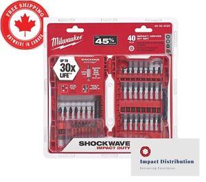Milwaukee-40-Piece-Shockwave-Impact-Driver-Bit-Set-48-32-4020-Long-bit
