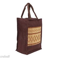 Saffron Craft Brown  Jute Lunch Bag