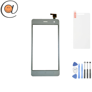 Vitre-Ecran-tactile-Wiko-Jerry-2-Blanc-Adhesif-Outils-Protection